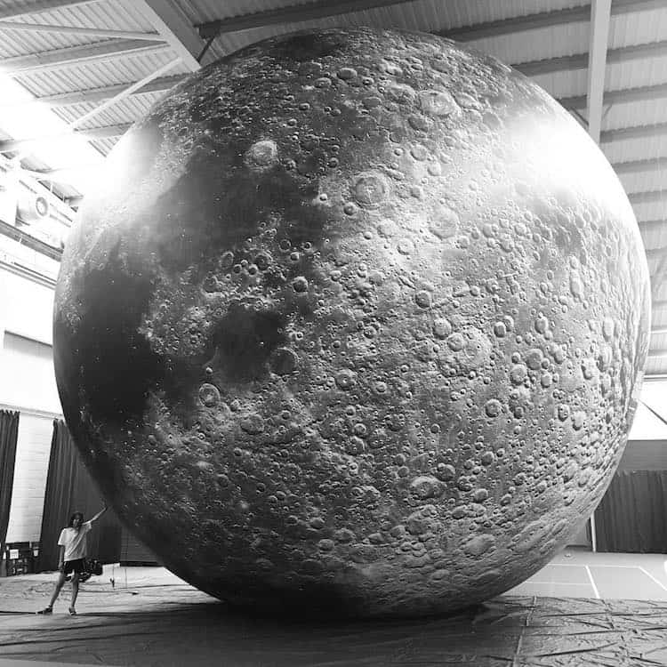 museum of the moon installation art luke jerram 8