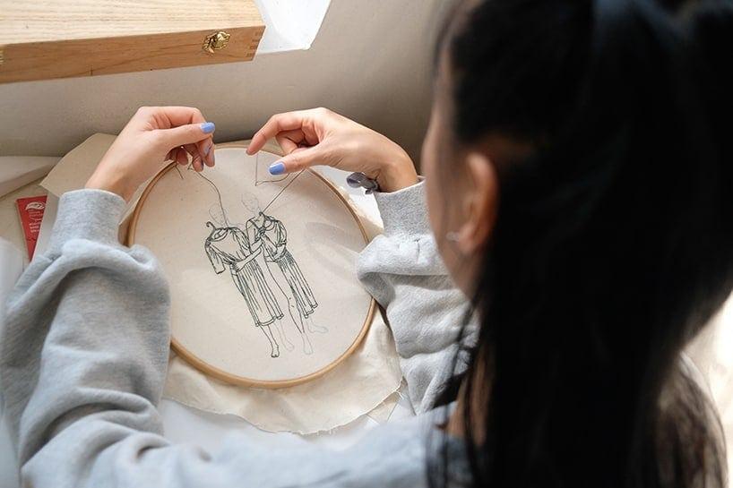 sheena liam embroidery designboom 1