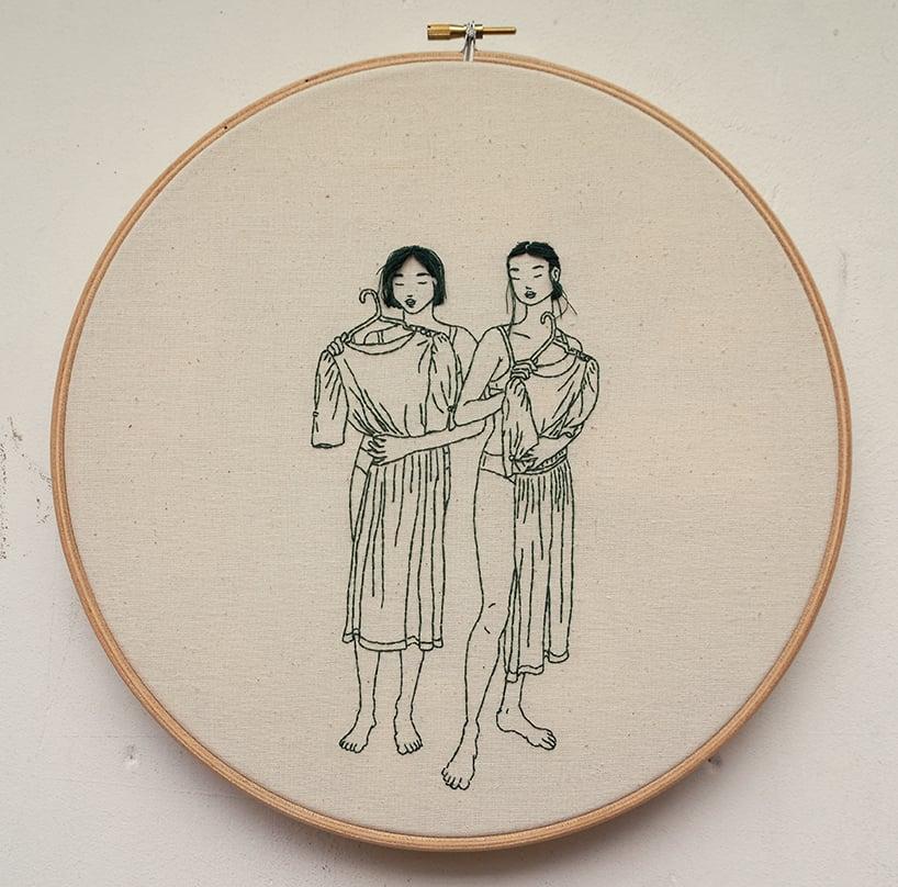 sheena liam embroidery designboom 2