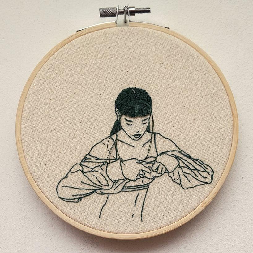 sheena liam embroidery designboom 3