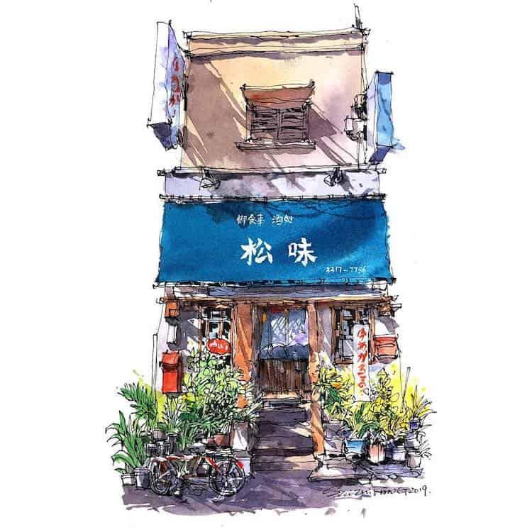 watercolor travel art zhifang shi 5