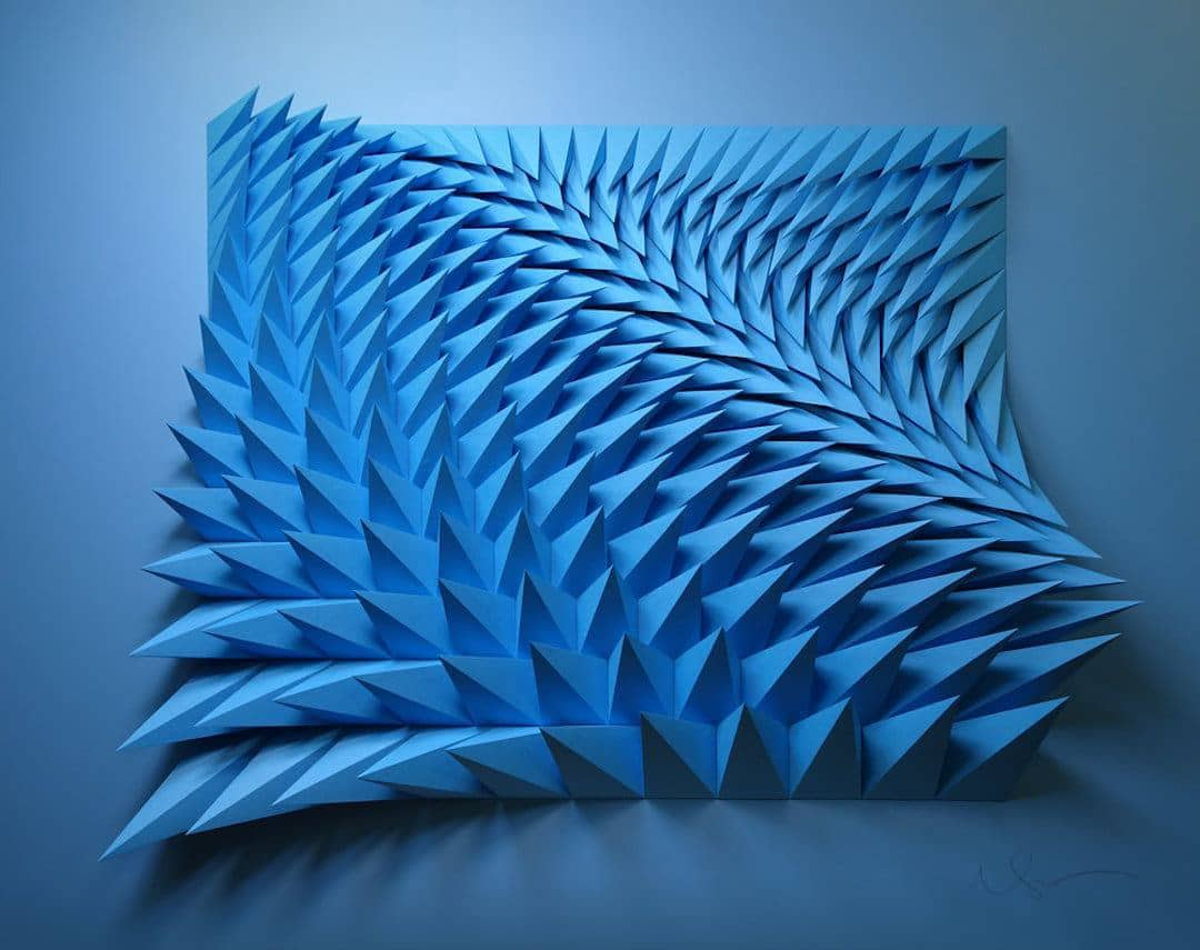 3d paper sculpture matthew shlian 17
