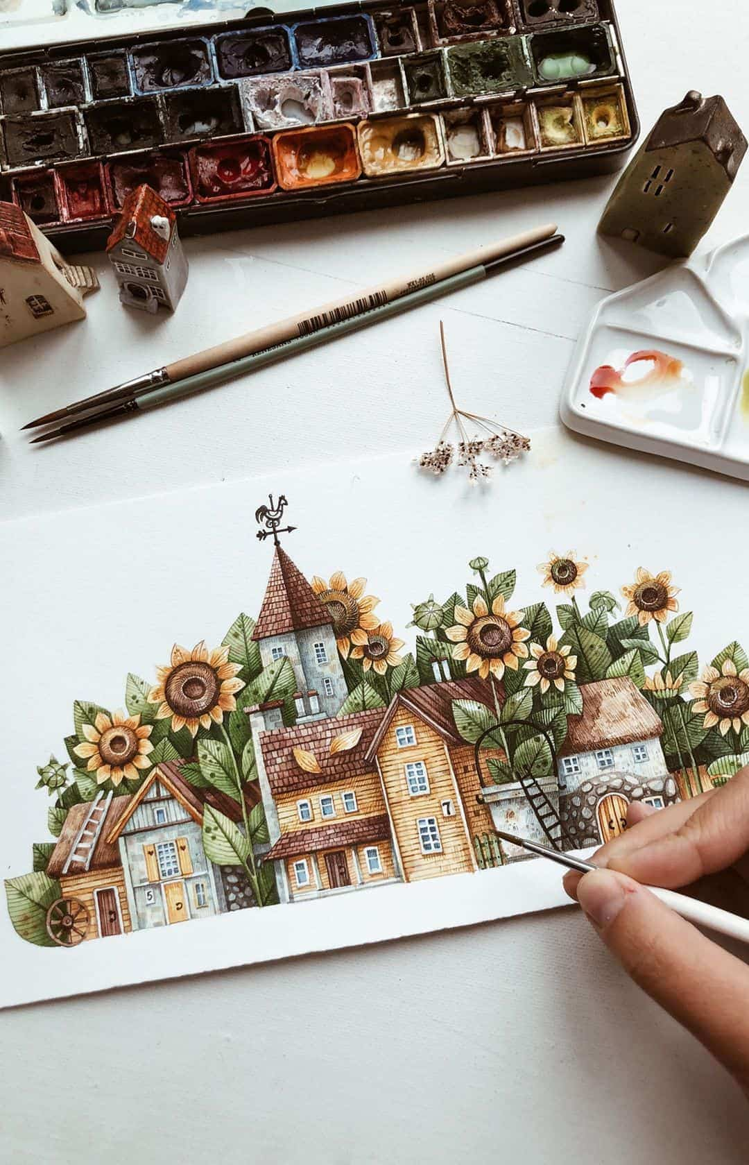 watercolor illustrations tonia tkach 1