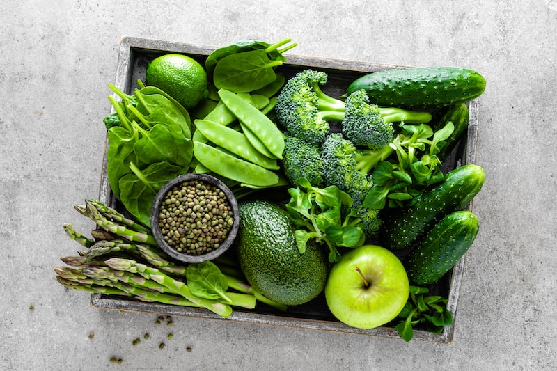 healthy green food selection D4UKWTR