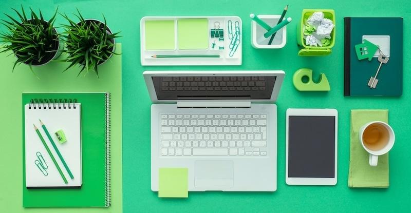 green creative desktop 7EQYJSC