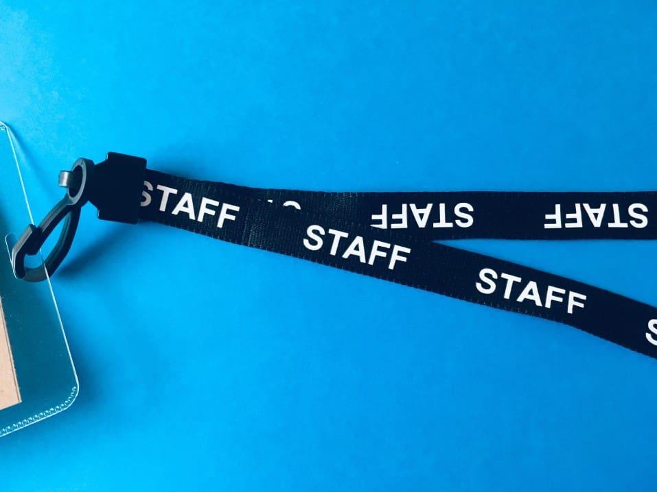 ribbon from a lanyard saying