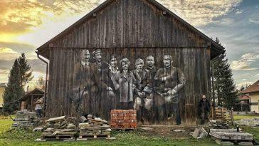 mural w miejscowości Haczów