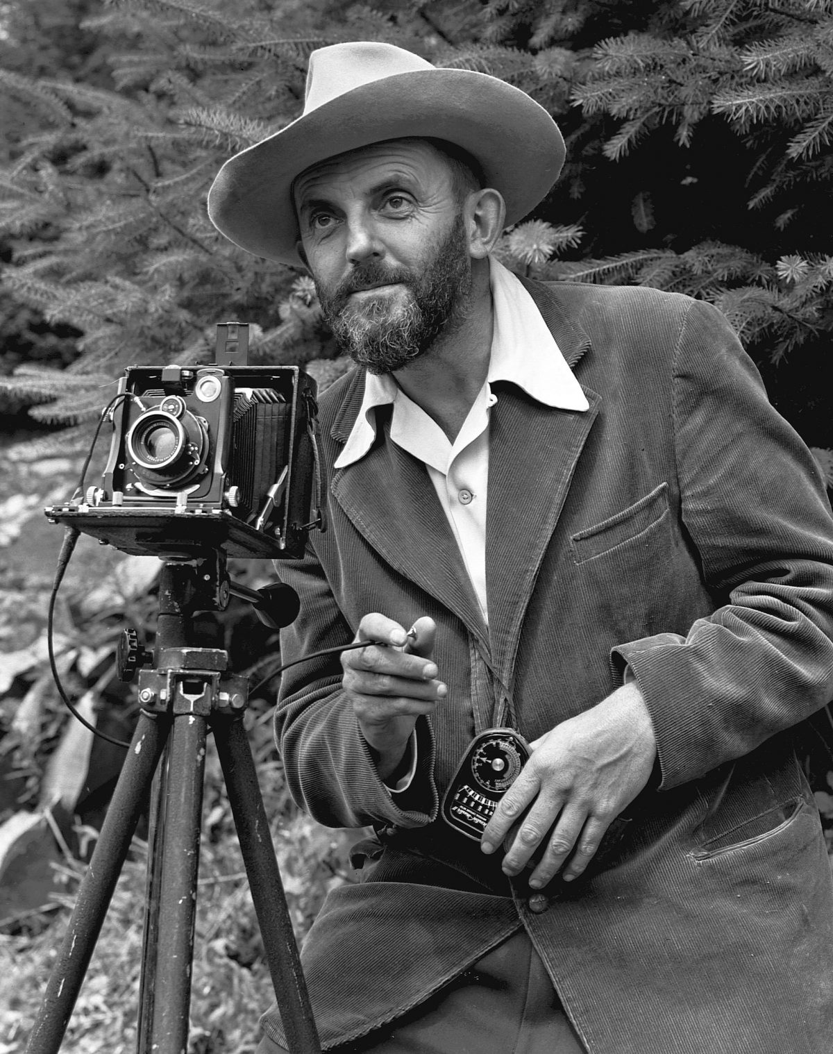 1707px Ansel Adams and camera