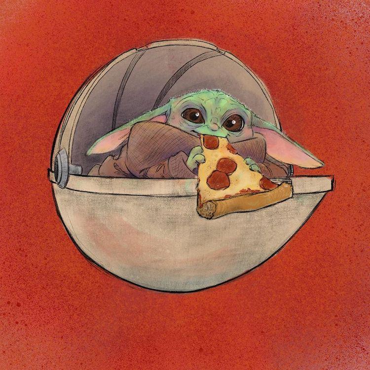 baby yoda eating food 13