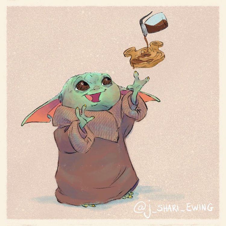 baby yoda eating food 4