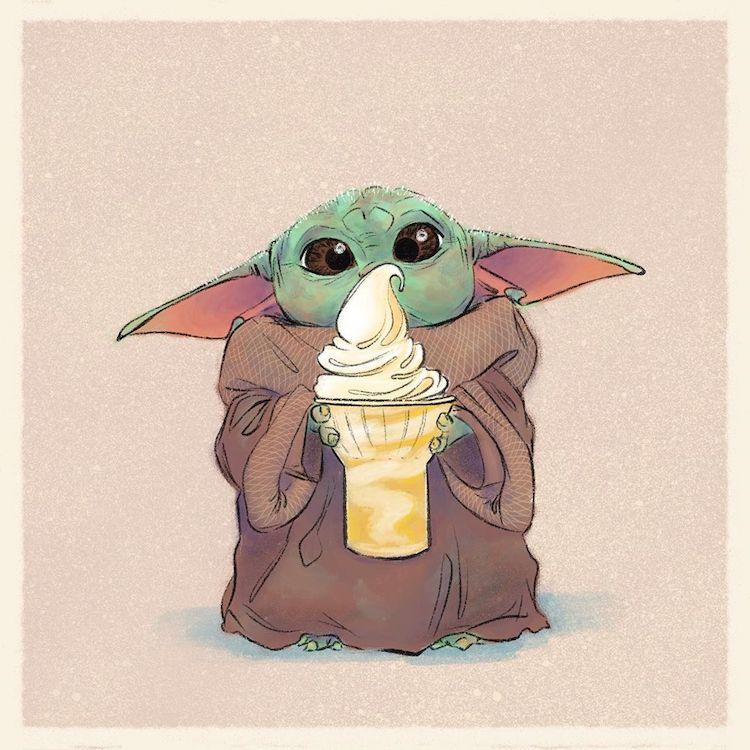 baby yoda eating food 5