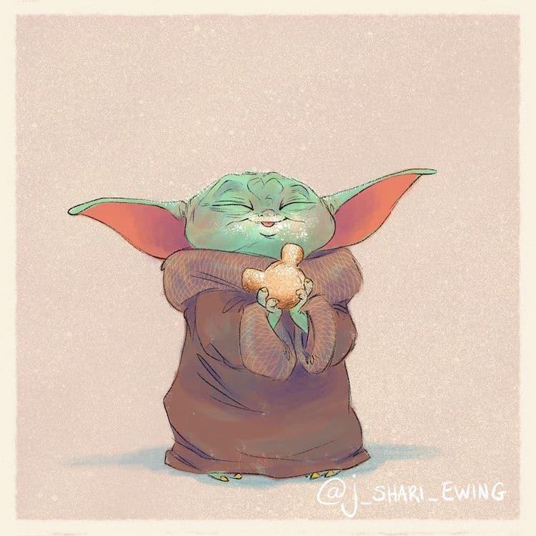 baby yoda eating food 6