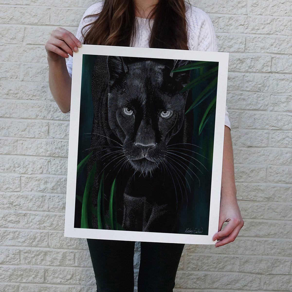 Dreamy Black Panther Print © Kelsey Emblow