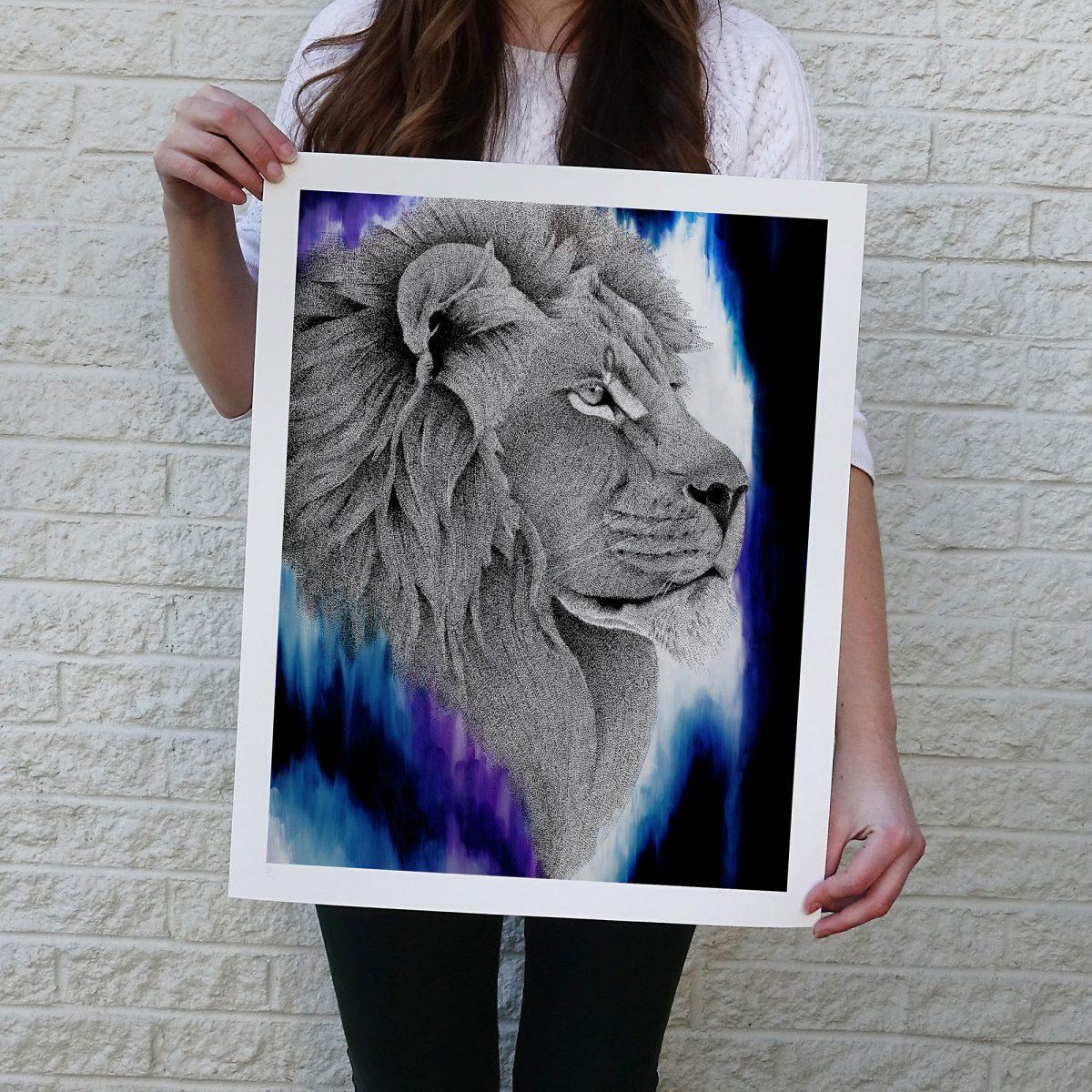 Dreamy Lion Print © Kelsey Emblow