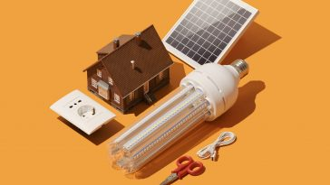 Home renovation and electrical system innovation: solar panel, energy saving lamp and model house