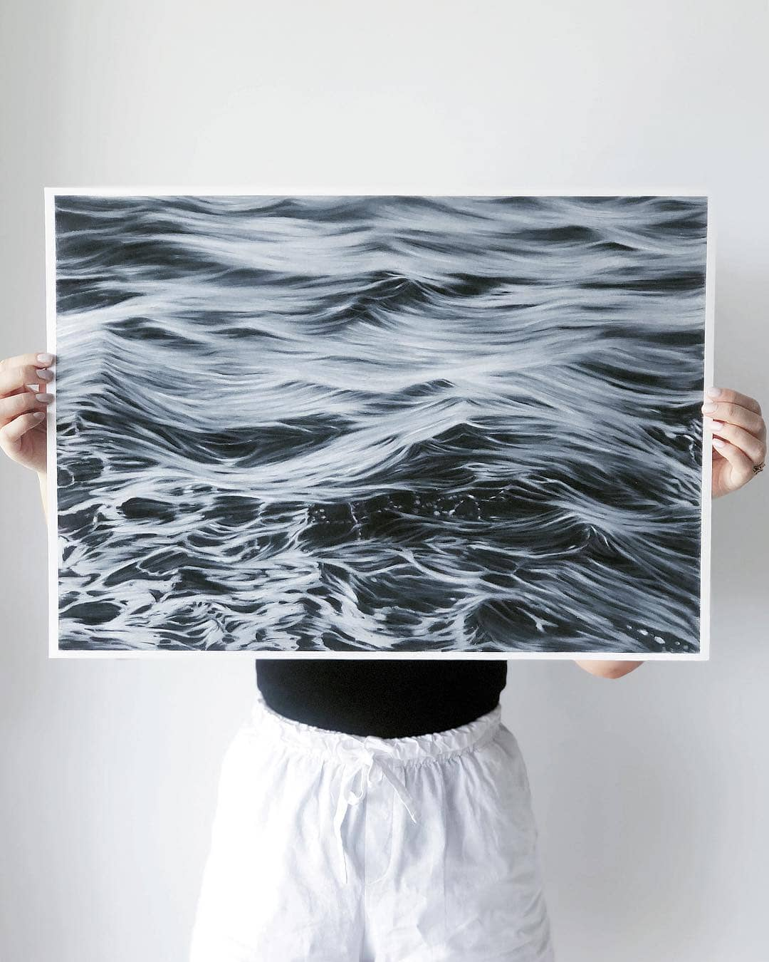 wave pencil drawings bethany moffat 1