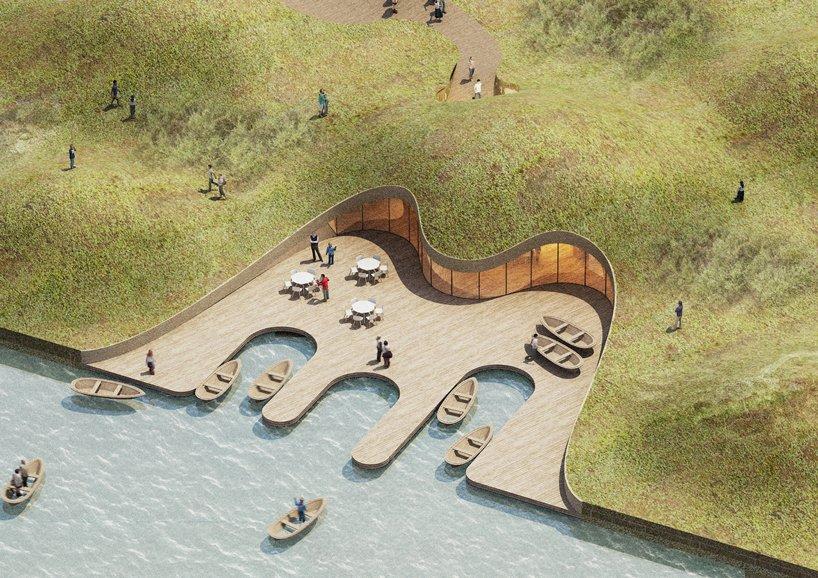 madam architecture hexia architects ginkgo swan lake park fishermans warf designboom 01