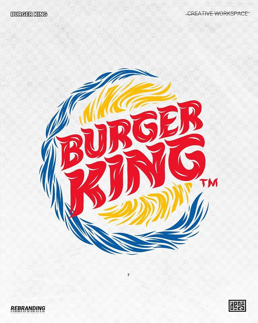 Artist shows alternative versions of famous logos in different styles 5ed3adb4afaeb  880