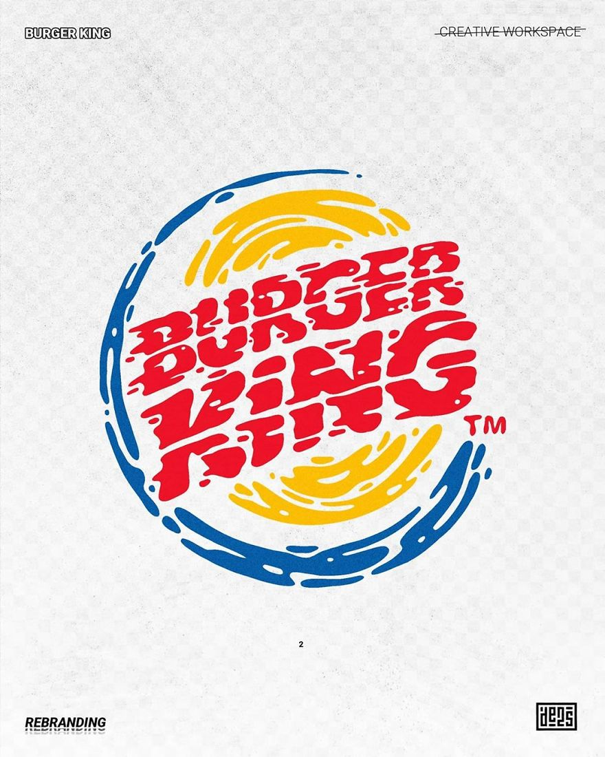 Artist shows alternative versions of famous logos in different styles 5ed3adbbab5e9 880