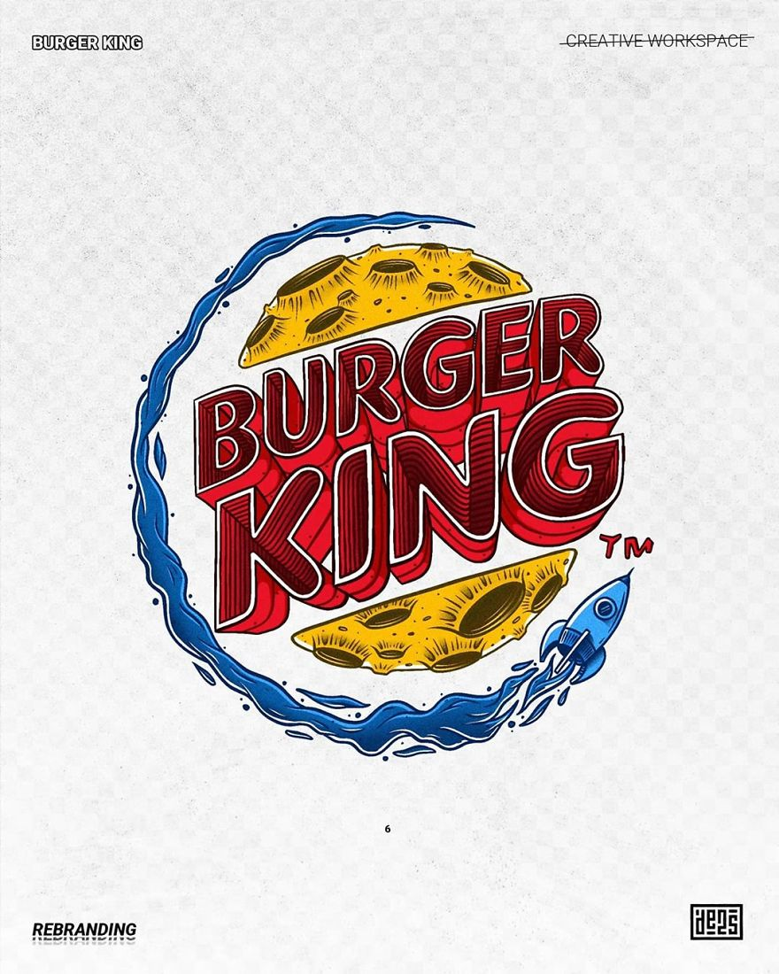 Artist shows alternative versions of famous logos in different styles 5ed3adced525c  880