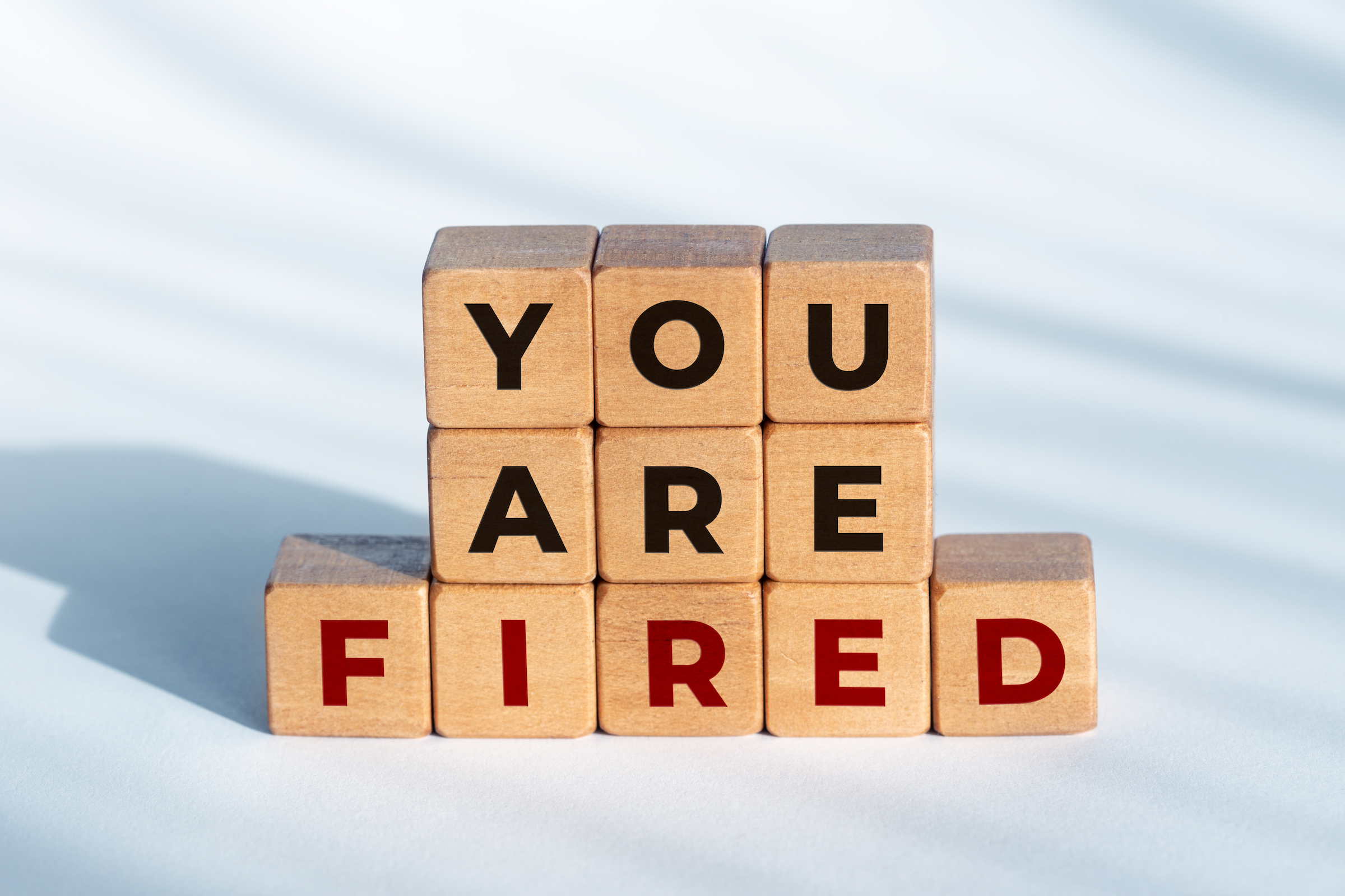 you are fired phrase on wooden blocks 93WTNDY