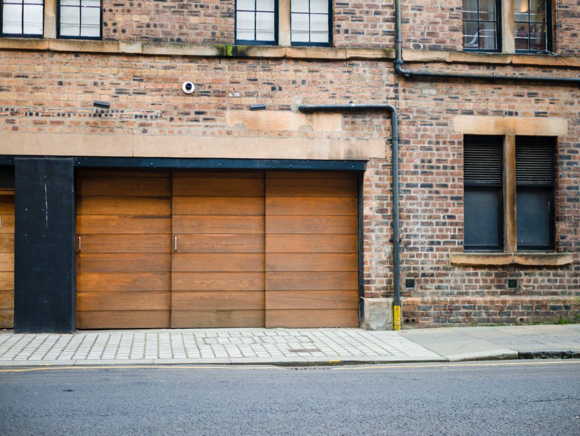 brown wooden door