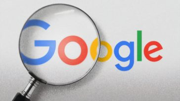 white and blue google logo