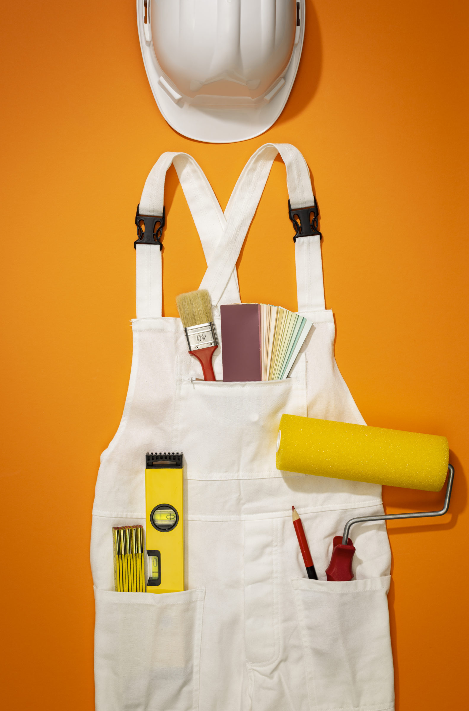 painter and decorator work uniform with tools UPFS8G3