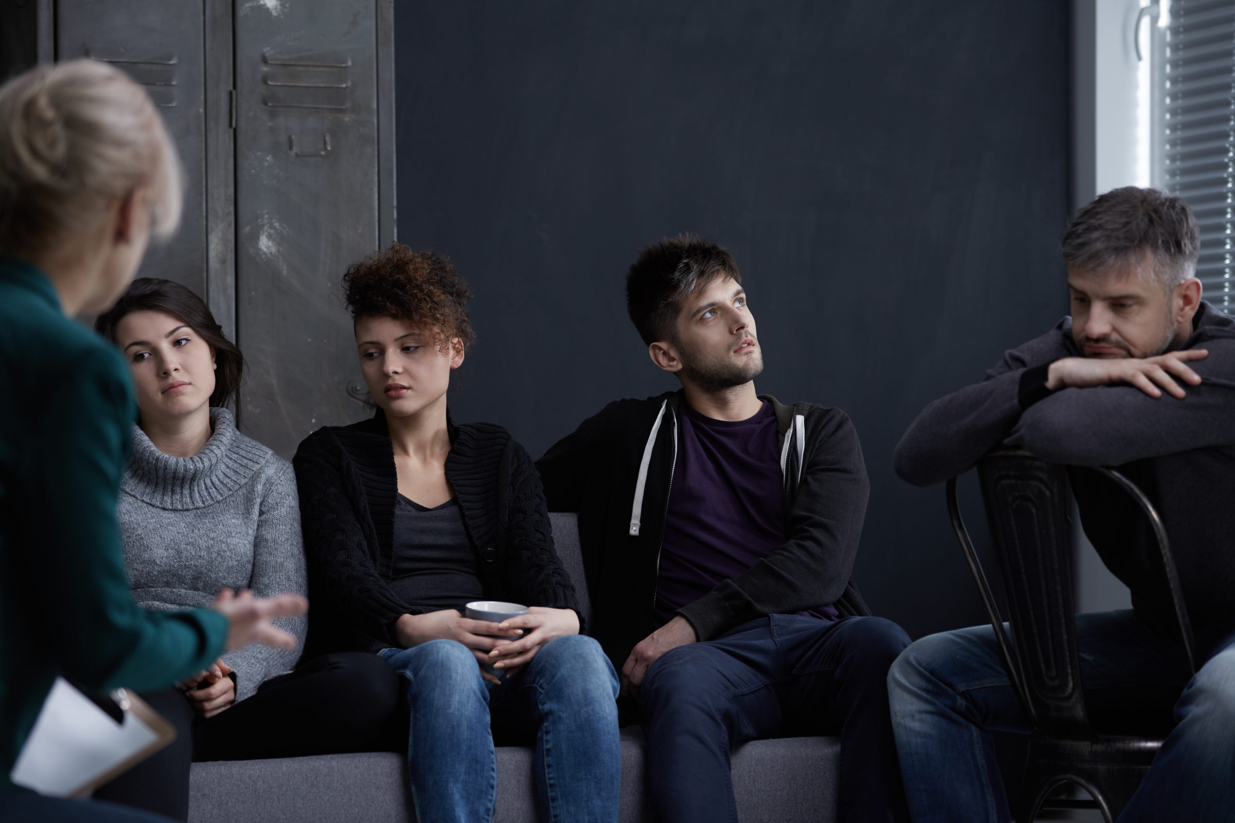 people during addiction treatment P6XU72B