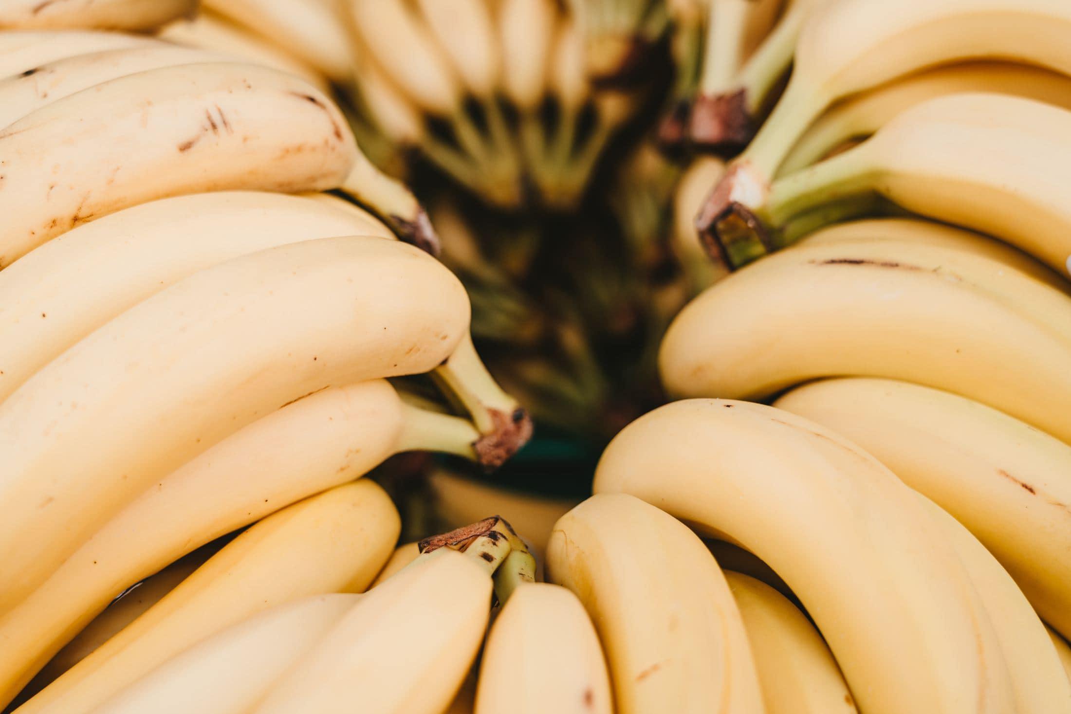 pile of yellow banana fruits