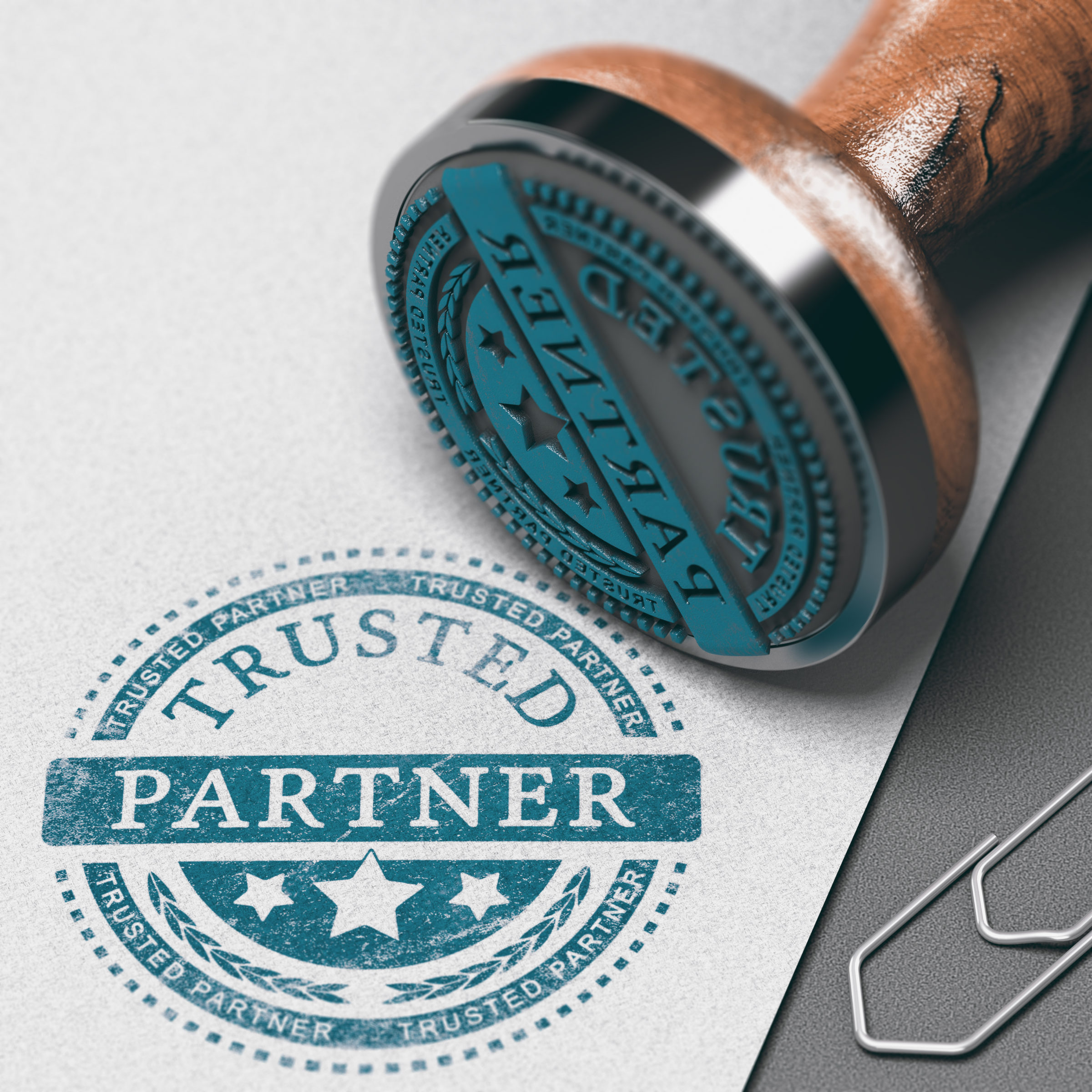trust in business relationship trusted partner PET7HSZ