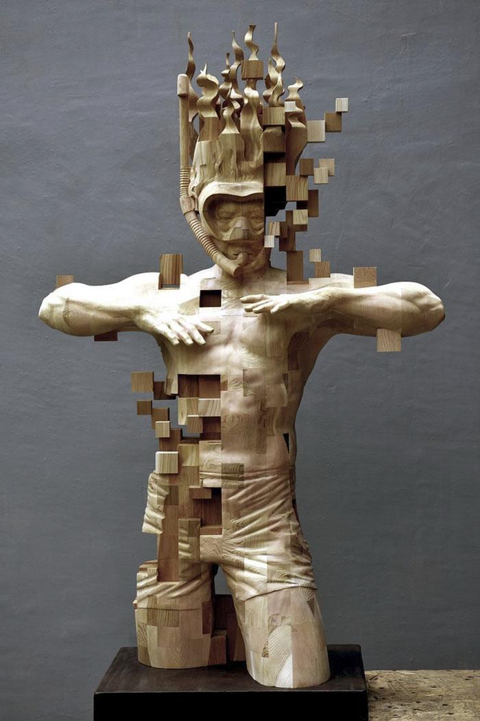 5f17e4ca49eeb wood pixel sculptures hsu tung han taiwan 9 598bfced9ca2a 700