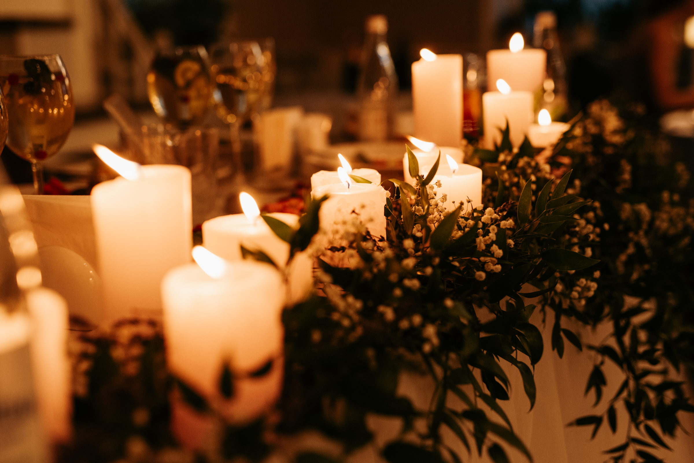 festive traditional candles on table CE5GU7T