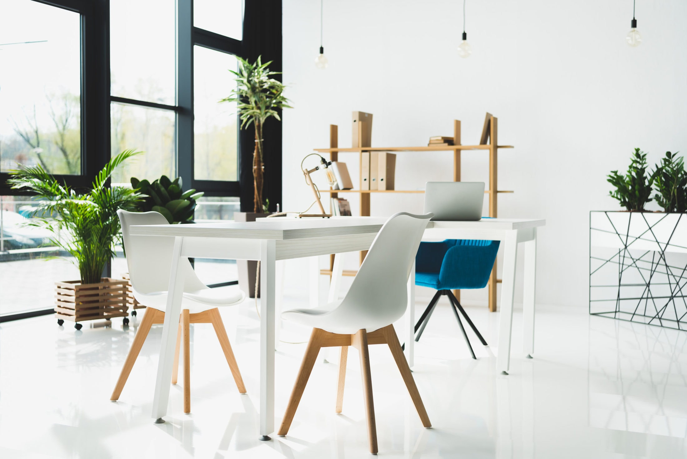 interior of modern office with white walls MKABWEA scaled
