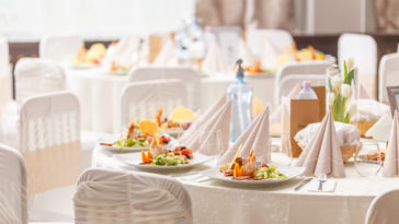 luxury food on wedding table PX3DWW5