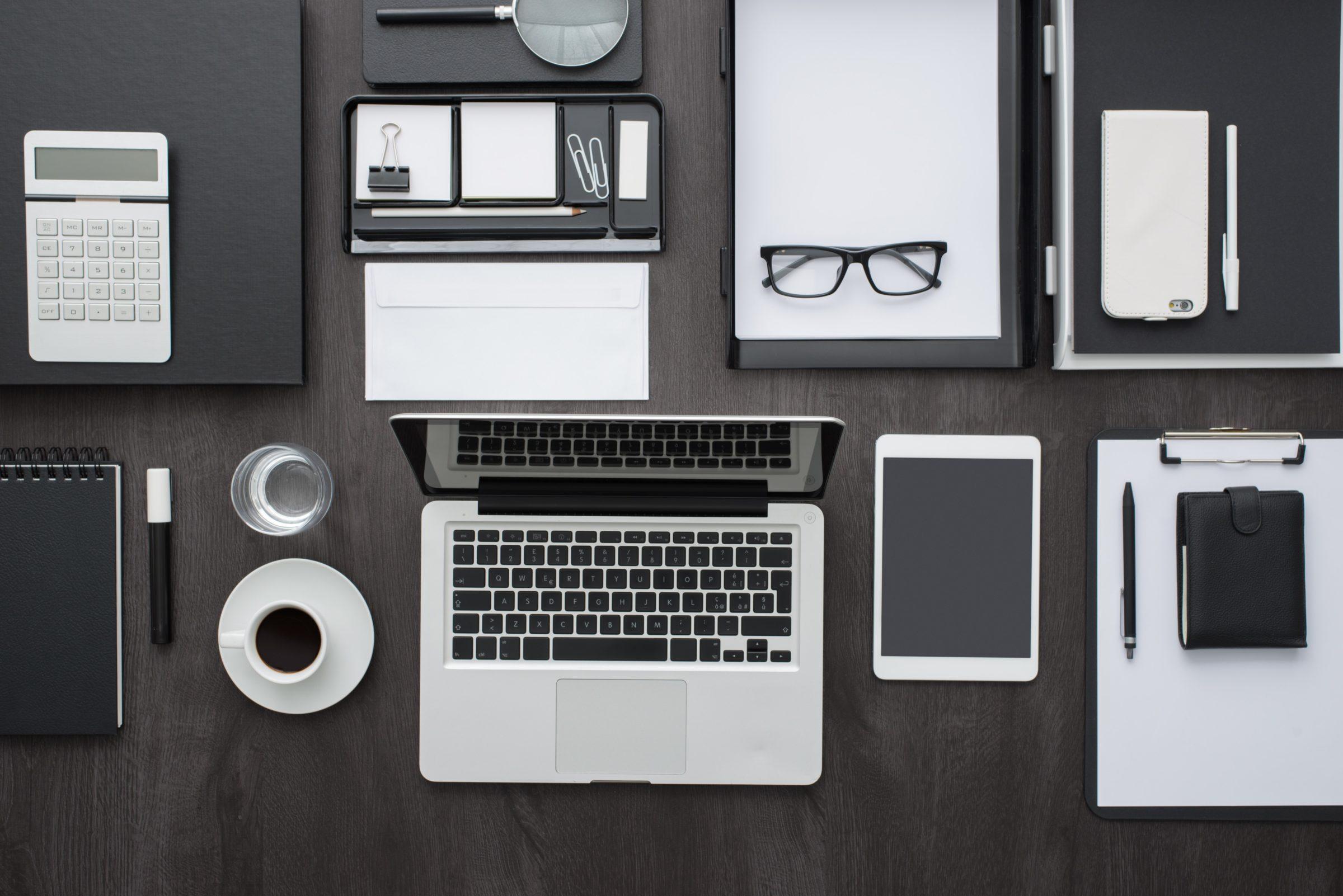 organized business desktop