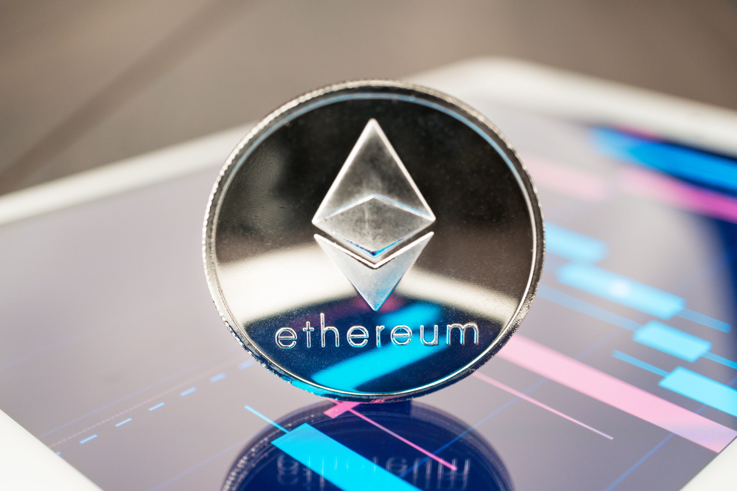 ether cryptocurrency on the tablet WUBHEYL