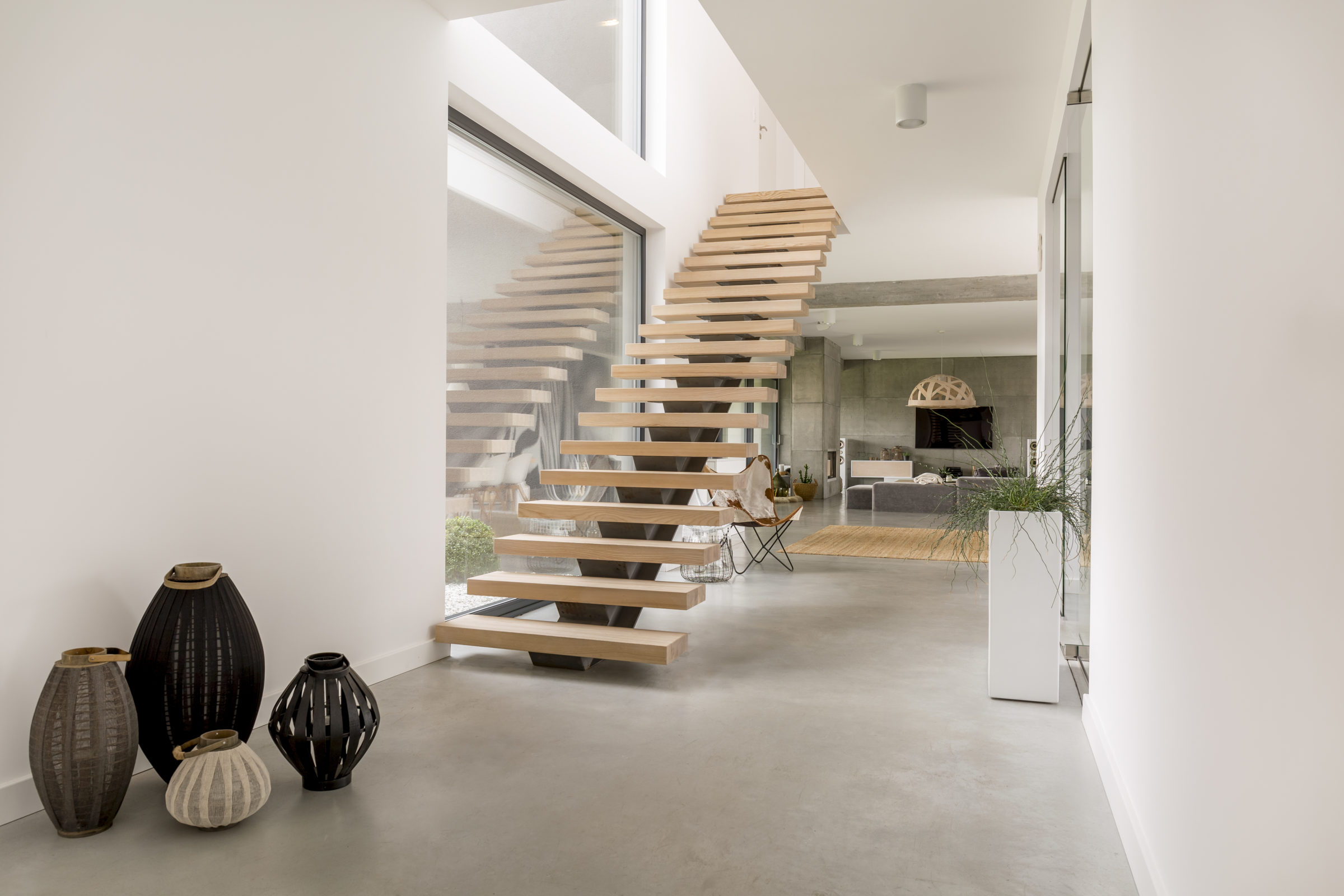 wooden minimalistic stairs PCWE8BA