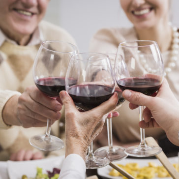 happy family toasting granparents anniversary PT6B463