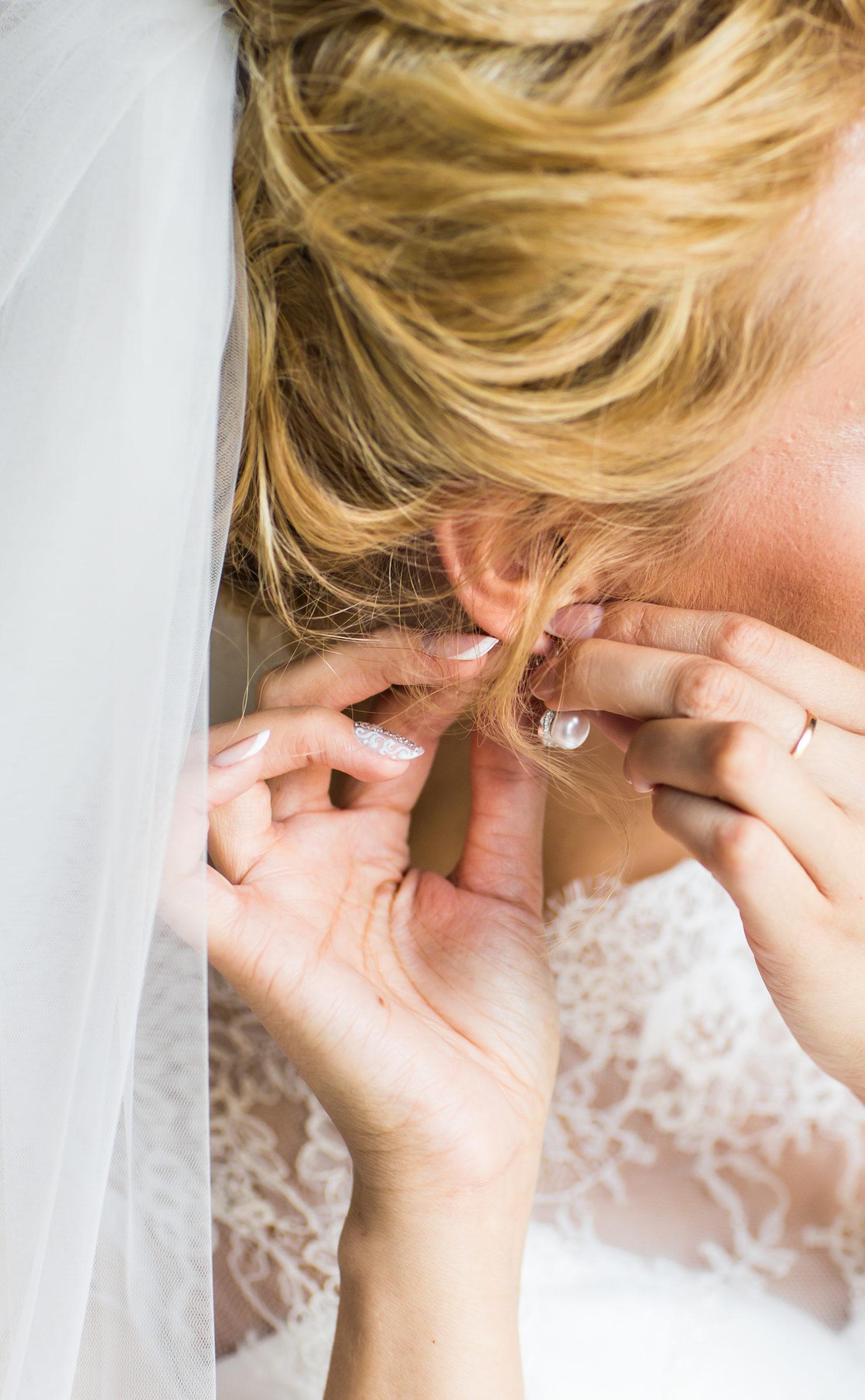 close up of beautiful woman wearing shiny diamond PX8K9MU