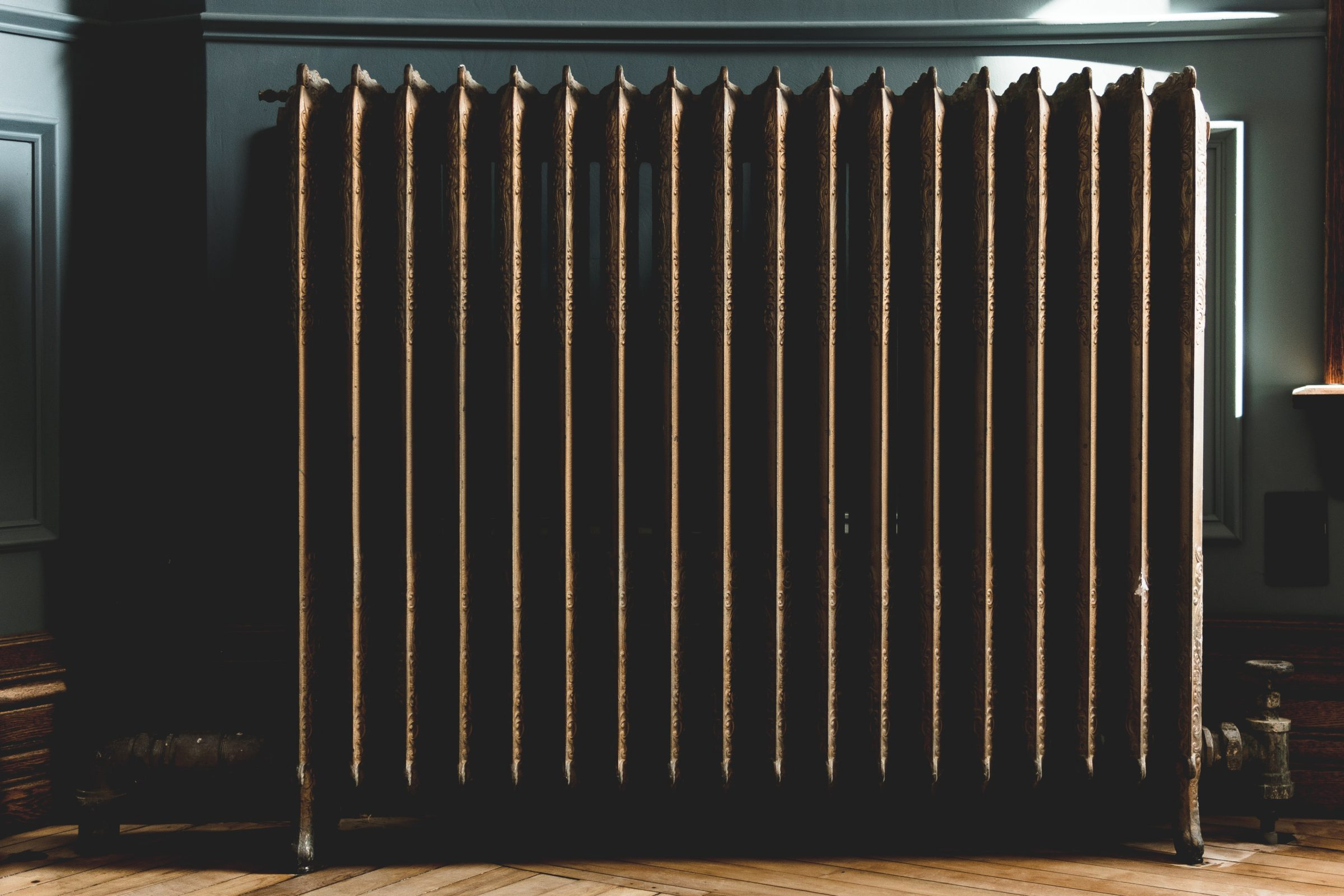 photo of gray oil heater