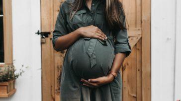 pregnant near door