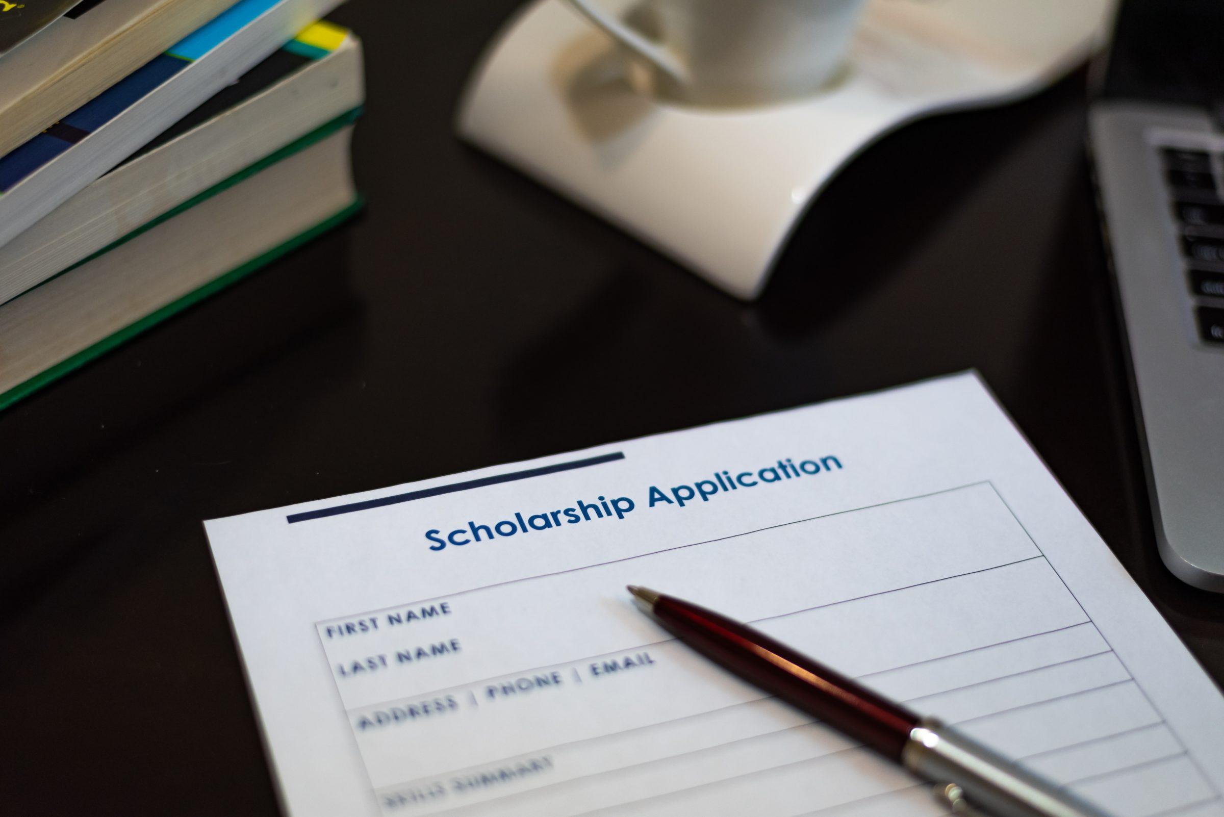 scholarship application form E6WUHDP
