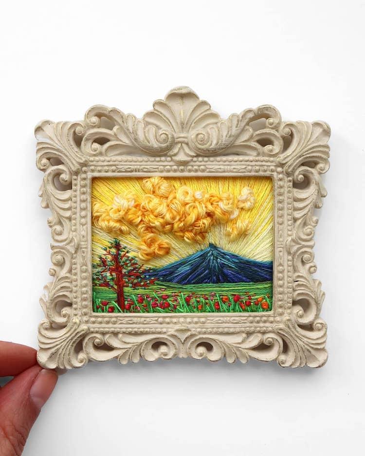 landscape embroidery art caroline torres 4