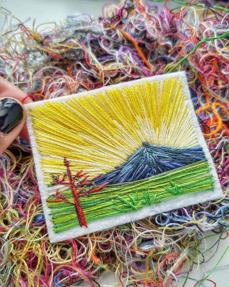 landscape embroidery art caroline torres 5
