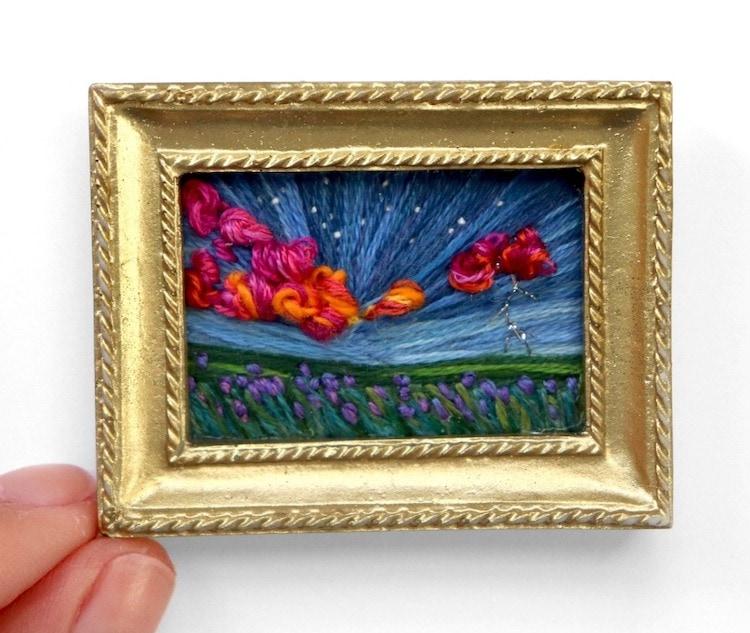 landscape embroidery art caroline torres 8