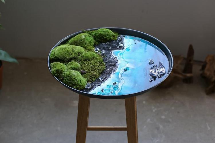 moss resin wall art 15
