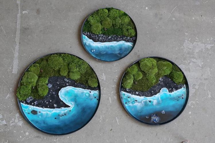 moss resin wall art 4
