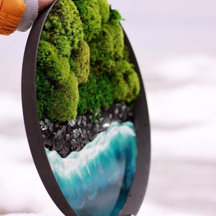 moss resin wall art 5