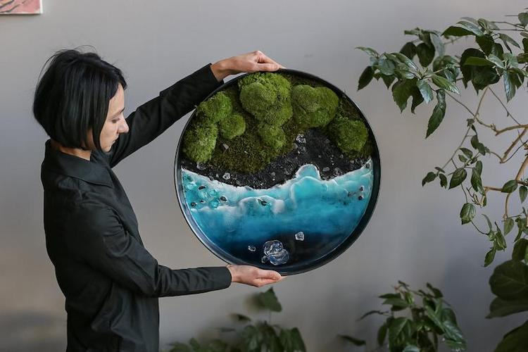 moss resin wall art 9